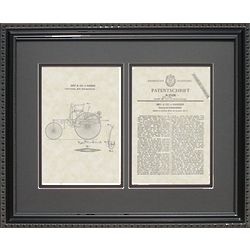 First Mercedes Auto Framed Patent Framed Print 16x20