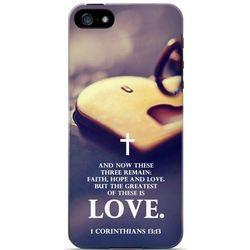 1 Corinthians 13:13 Apple iPhone 5 Hardback Cover