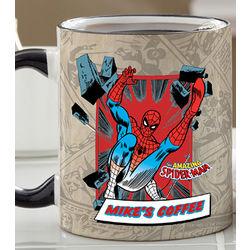 Personalized Retro Superhero Coffee Mug