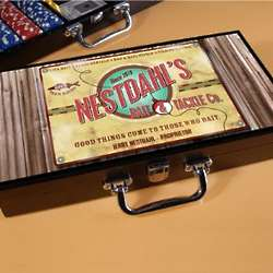 Personalized Bait and Tackle Poker Set