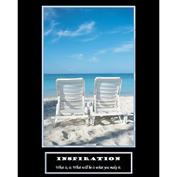 Inspiration Beach Personalized Art Print
