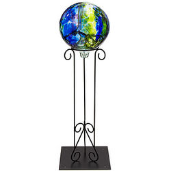 Glass Gazing Ball with Stand