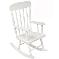 White Spindle Rocking Chair