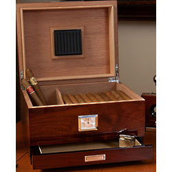 Personalized Cigar Humidor with Drawer