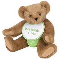 Baby's Green Bib Teddy Bear