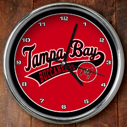 Tampa Bay Buccaneers Chrome Clock