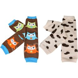 Owl and Animal Print Colorful Baby Leg Warmers