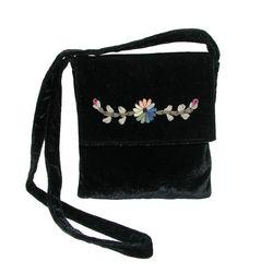 Front-Flap Shoulder Bag with Floral Detail