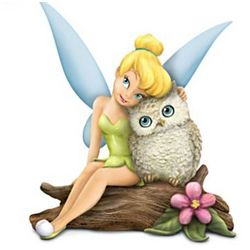 Disney Owl Always Love You Tinker Bell and Owl Figurine