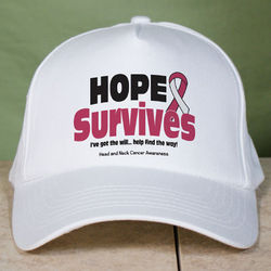Hope Survives Head and Neck Cancer Awareness Hat