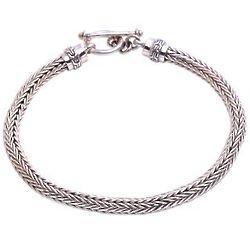 Naga Spirit Men's Sterling Silver Chain Bracelet