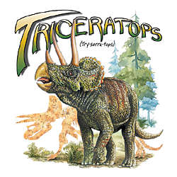 Triceratops Dinosaur Youth T-Shirt