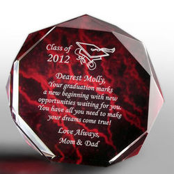 Personalized Graduation Marbleized Octagon Plaque