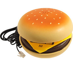 Analog Novelty Hamburger Corded Telephone