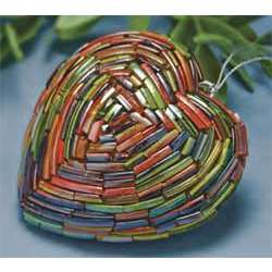 Craft Ideas  Bangles on Glass Bangles Heart Ornament Pieced Together From Broken Glass Bangle