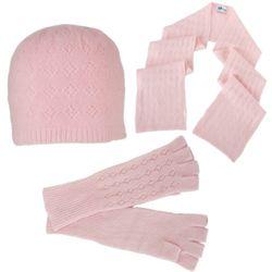 Pink V Eyelet Winter Set