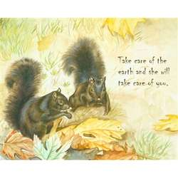 Fall Squirrels Personalized Art Print