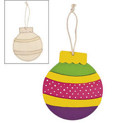 Color Your Own Wooden Ornament