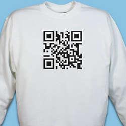Personalized Barcode Scanner Sweatshirt