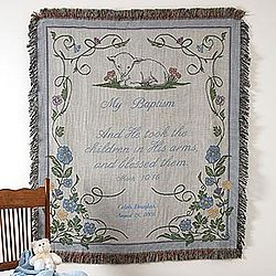 My Baptism Personalized Afghan