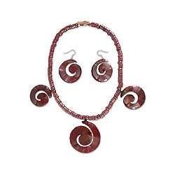 Spirals Copper Jewelry Set