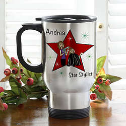 Personalized Hair Stylist Stainless Steel Travel Coffee Mug