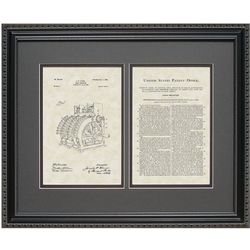Cash Register 16x20 Framed Patent Art Print