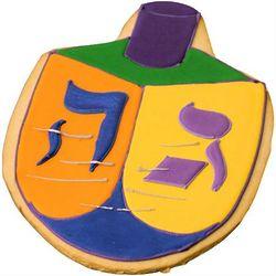 Dreidel Hanukkah Cookie