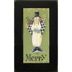 Snowman A Very Merry Christmas Framed Print