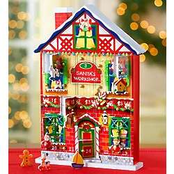 Christmas House Advent Calendar with Ornaments