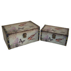 Bird and Butterfly Trinket Boxes