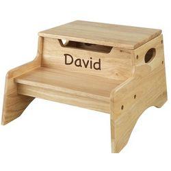 Storage Stepstool with Brown Name
