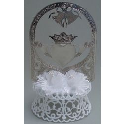 Silver-Plated Claddagh Wedding Cake Top