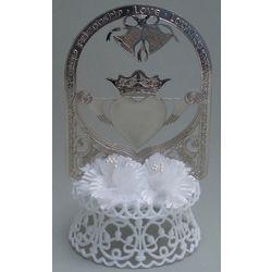 Silver-Plated Claddagh Wedding Cake Top