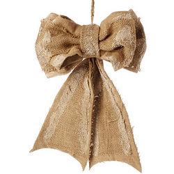 Burlap Bow Ornament