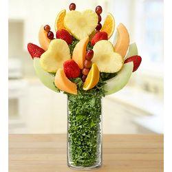 Hearts Fruit Arrangement in Personalized Vase
