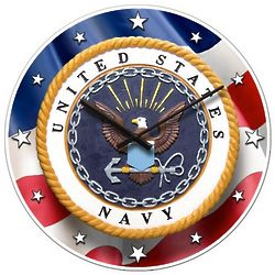 The United States Navy Patriot Wall Clock