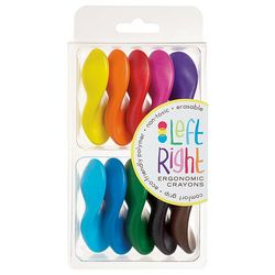 10 Left Right Ergonomic Crayons