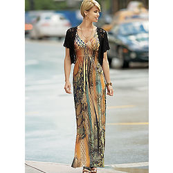 Misses Snakeskins Maxi Dress