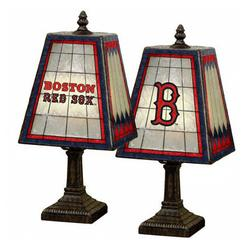 Boston Red Sox Handpainted Glass Table Lamp