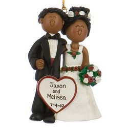 Ethnic Wedding Couple Personalized Christmas Ornament