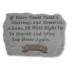 Personalized 'If Tears Could Build a Stairway' Memorial Stone