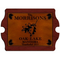Personalized White Oak Vintage Cabin Sign