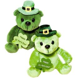 St. Patrick's Day Plush Leprechaun Teddy Bear