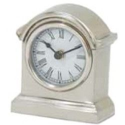 Rounded Arch Top Pewter Desk Clock
