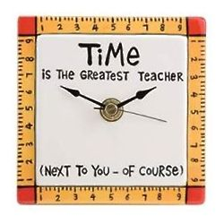 Teacher Ceramic Desk Clock