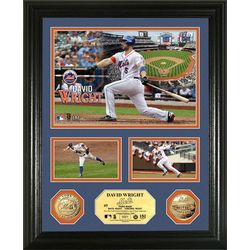 "David Wright Gold Coin ""Showcase"" Photo Mint"