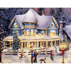 Thomas Kinkade Village Christmas Set