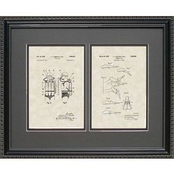 Scuba Diving Gear Framed Patent Art Print 16x20