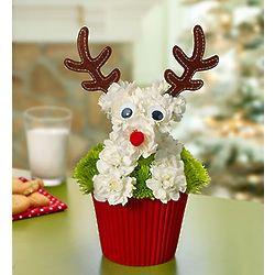 Reindeer Pup-Cake Floral Arrangement